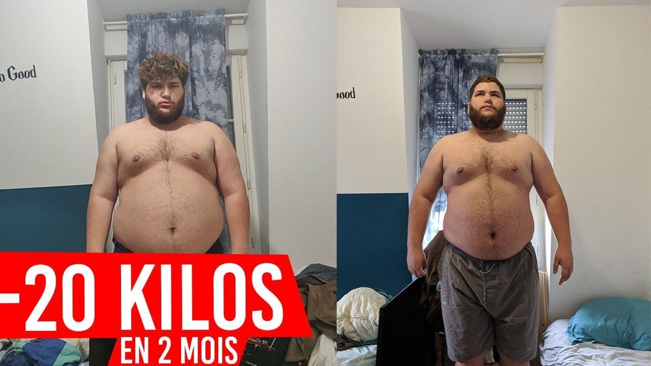 20 kg de poids perdus en 2 mois