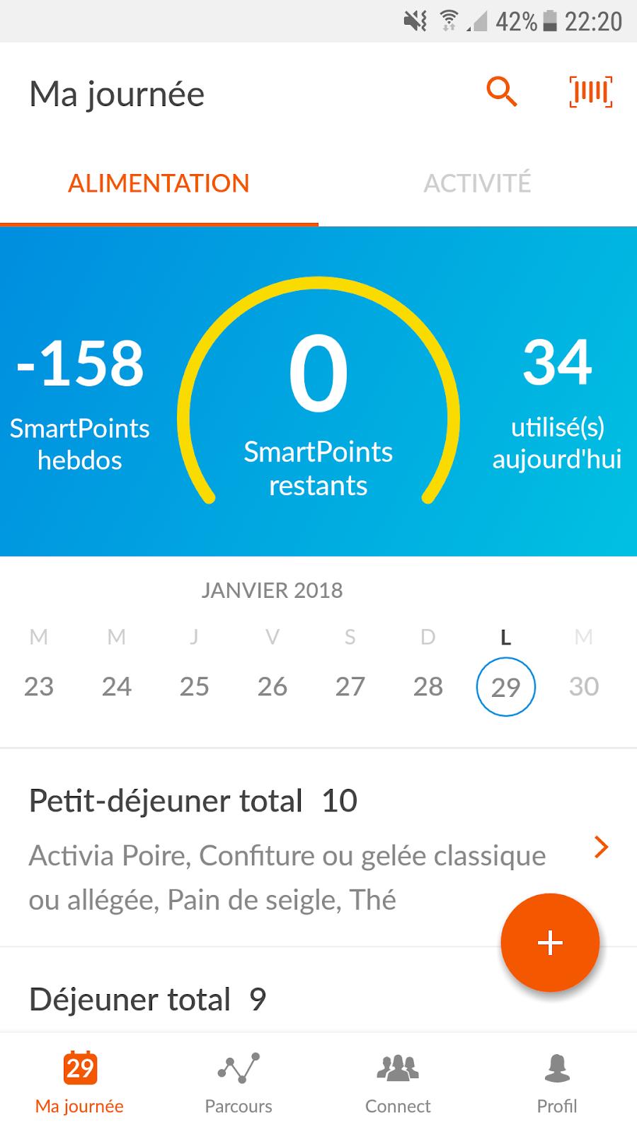 22 semaines de perte de poids