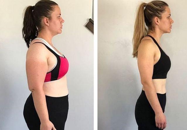 Transformation de perte de poids de 5 semaines