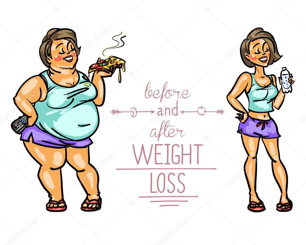 illustration perte de poids dessin