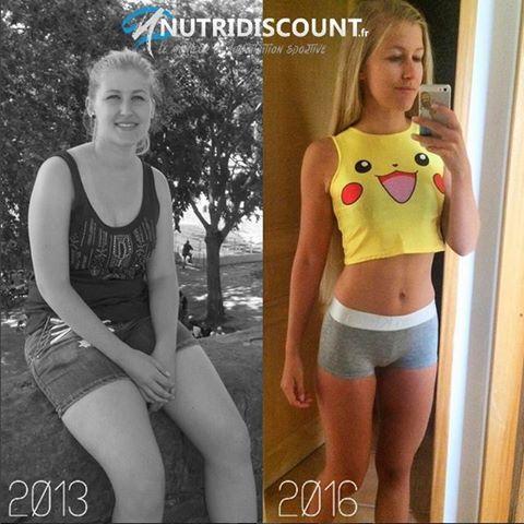 avant après la perte de graisse