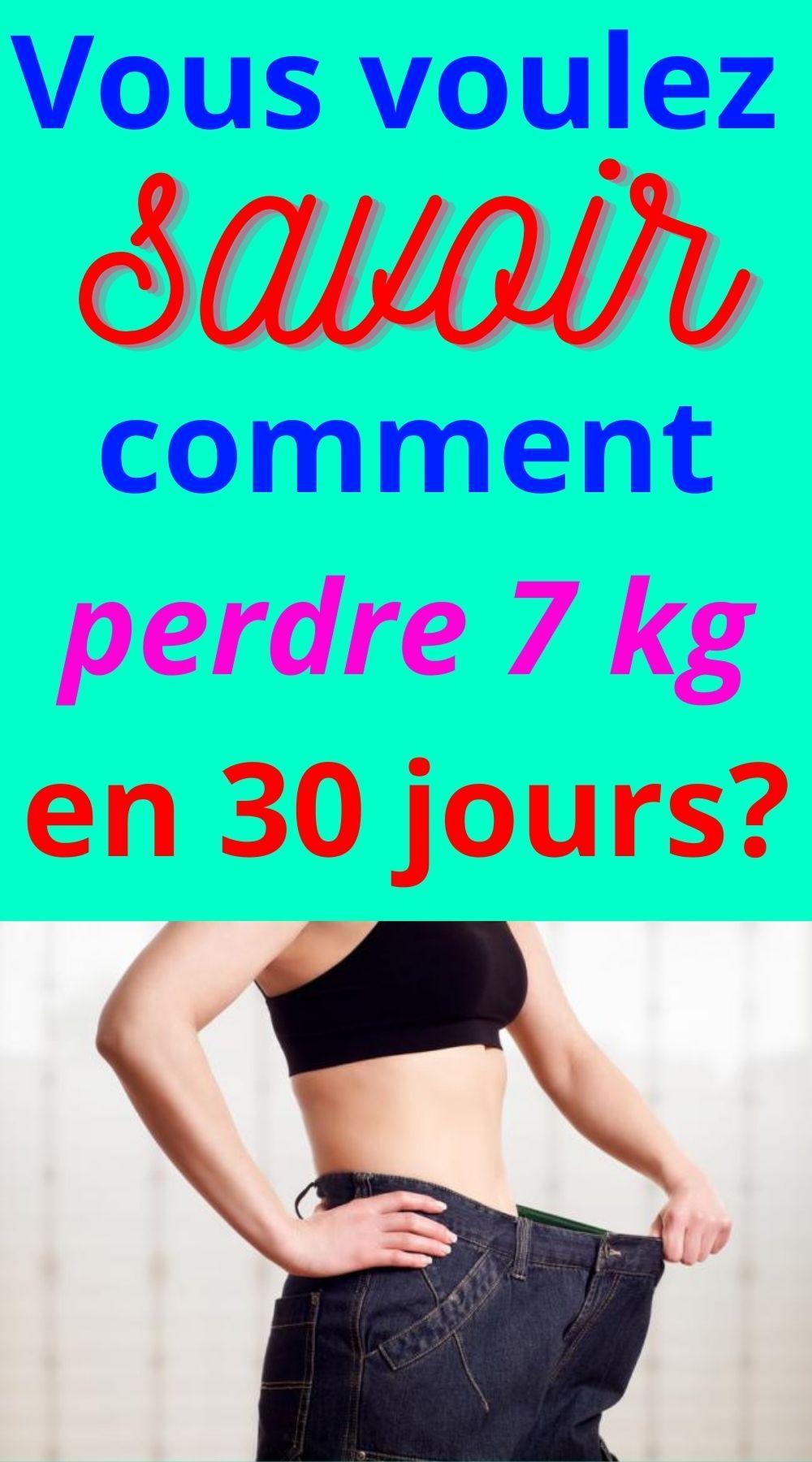 perdre 20 lb de graisse en 30 jours