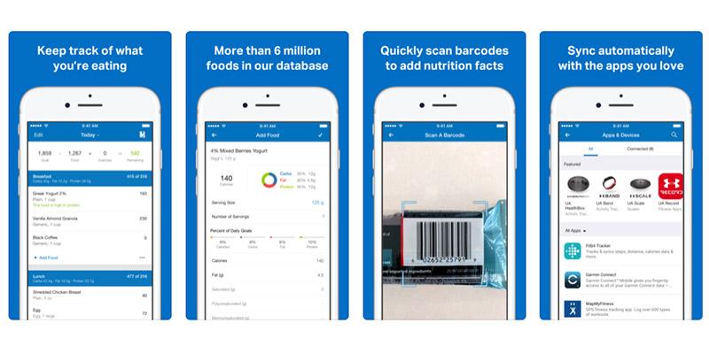 sur les applications de perte de poids