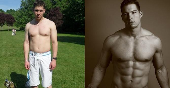 perte de poids de trois mois avant et après