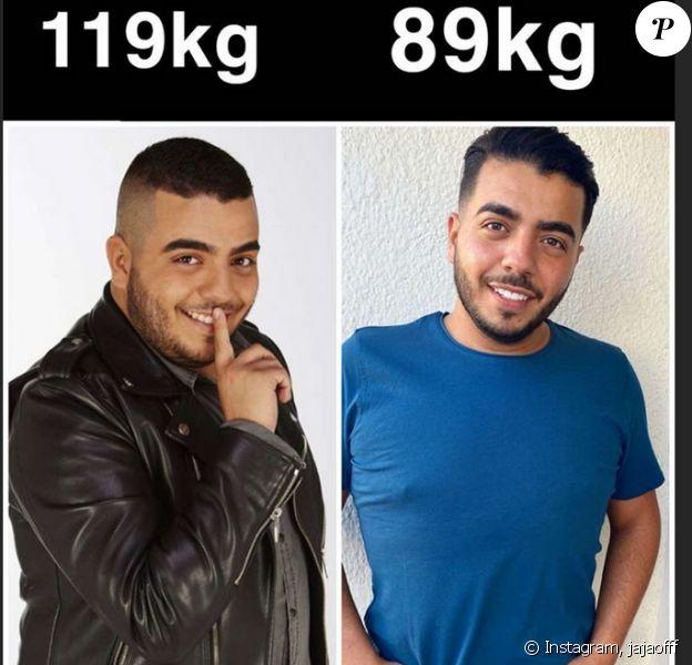 avant et après la perte de poids mens