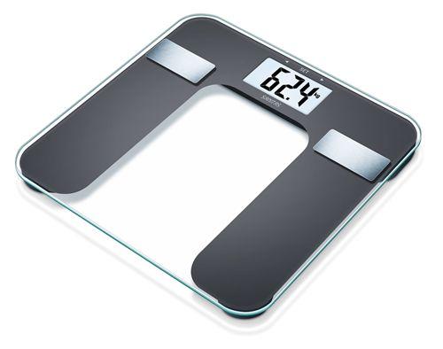 Pèse-personne impédancemètre Bluetooth en verre SBF 70 Sanitas | Pèse personne, Bluetooth, Balance