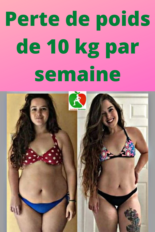 11 lb de perte de poids en une semaine