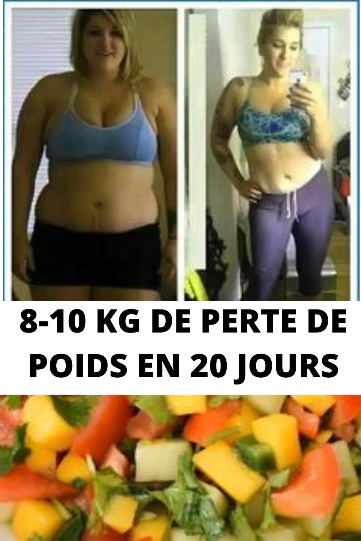 20 jours pour perdre du poids