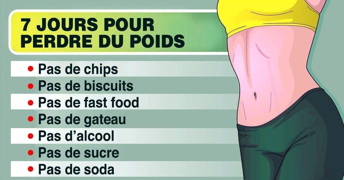 fiche de données de perte de poids