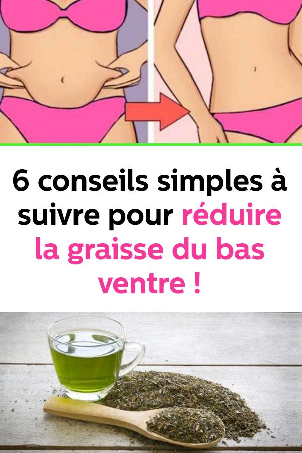 conseils pour perdre la graisse du ventre naturellement